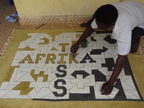 Afrika Tiss_Burkina Faso_Blog_Bogolan_tableau, Nzaire Bado, artiste, argile, ngalama