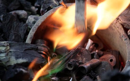 Fonte des métaux de récupération