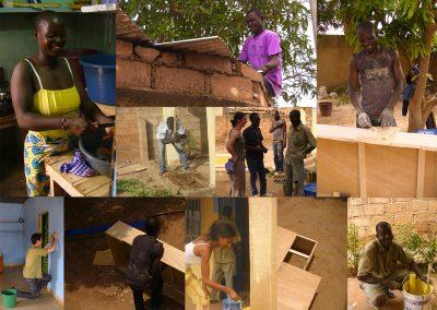 Les travaux d'aménagement du Centre textile Afrika Tiss