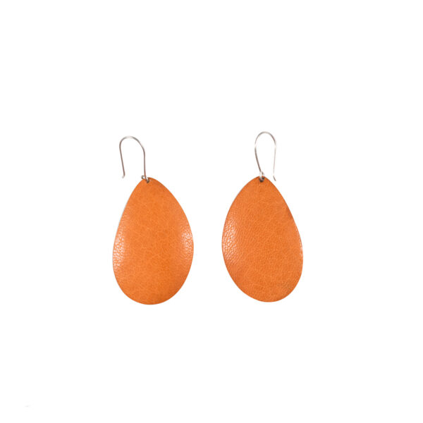 boucles d oreilles ovales orange