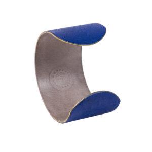 MANCHETTE - Cuir gainé Bleu