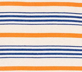 Rayé bleu-orange