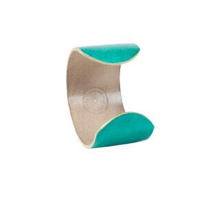 MANCHETTE - Cuir gainé turquoise
