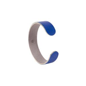 BRACELET JONC - Cuir gainé - Bleu